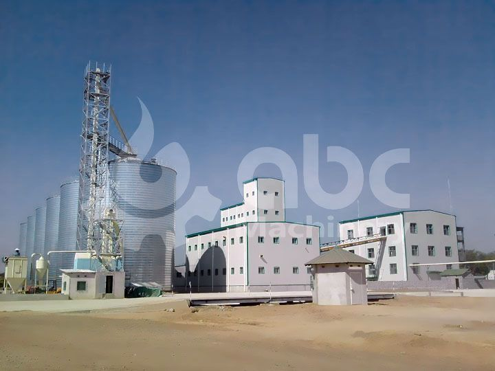grain silo project for complete animal feed and oil milling production plant