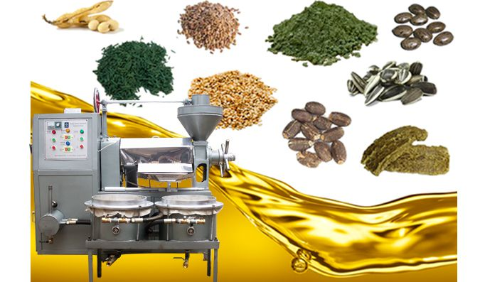 small integrated vegetable seeds oil press machine at factory price