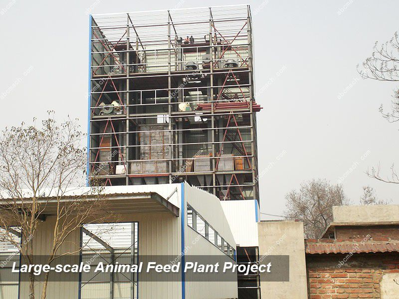 large animal feed production plant with complete turnkey project plan