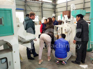 Russian Client Visited Our Factory for Lentil Peeling Machine