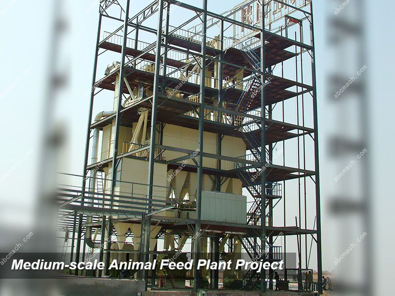 medium scale animal feed production line project report