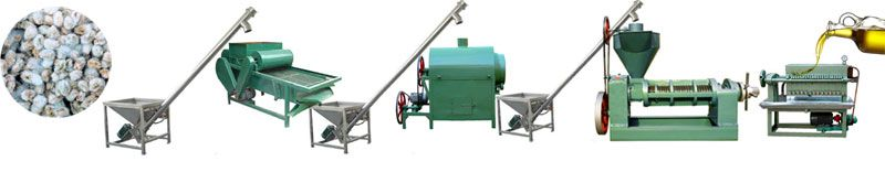 mini cottonseed oil pressing line low cost high output
