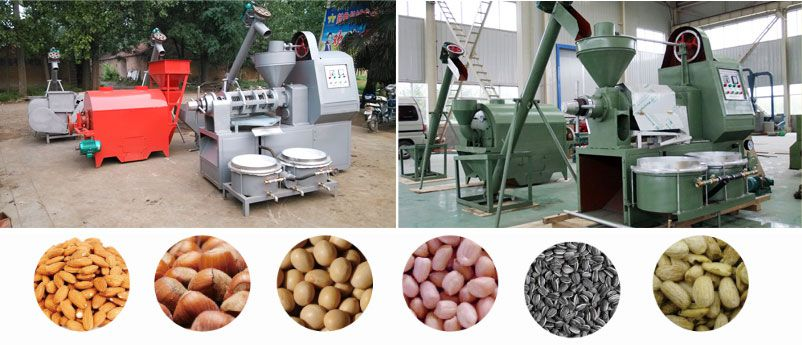 mini oil pressing line for vegetable oil seed and nut