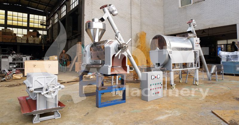 mini vegetable oil production line for processing various oilseeds