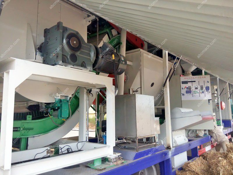 mobile cattle feed production line on a truck