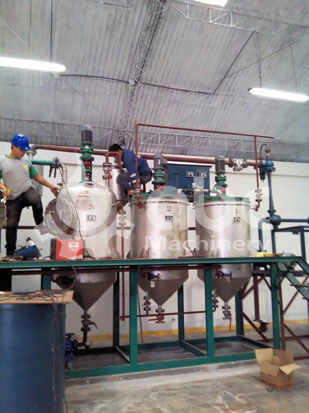 cooking oil refining pot debugging