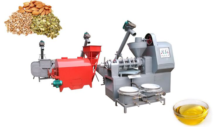 extract oil through integrated oil seed press machine