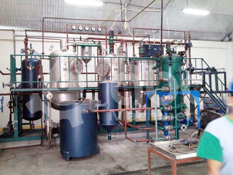 olive oil refinery unit for mini and small scale production of edible oil refining