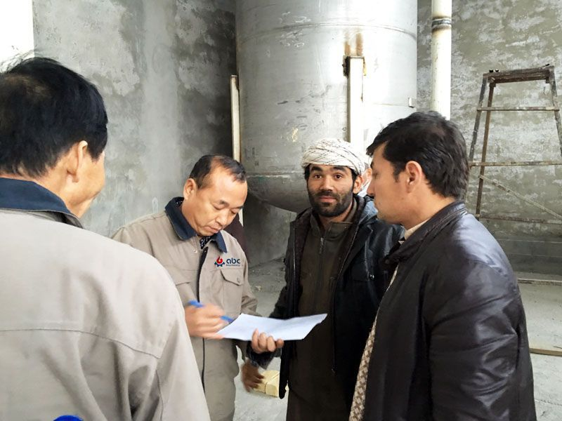 our project manager for the oil refining and fractionation production