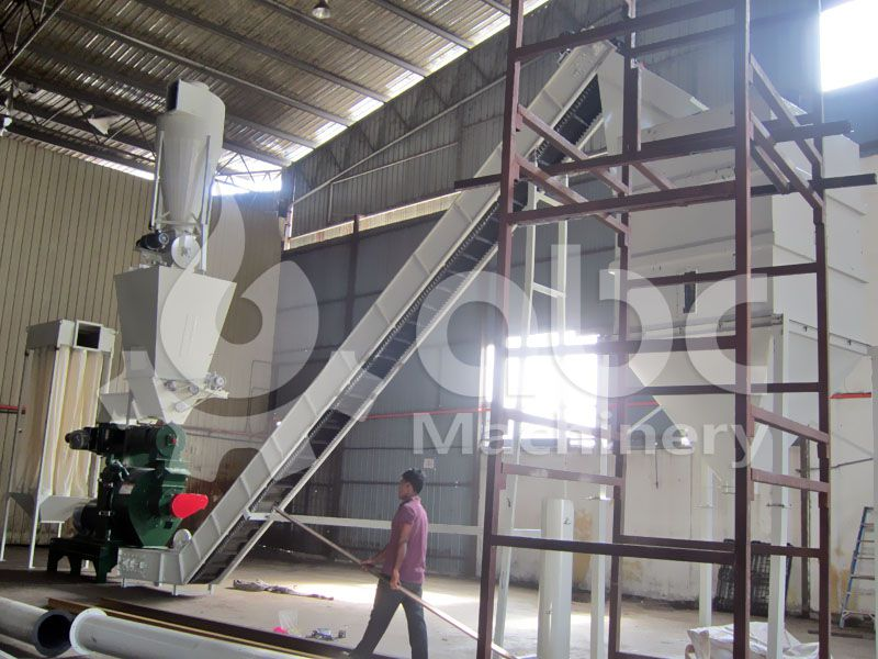 palm fiber pellet plant process and equipment layout