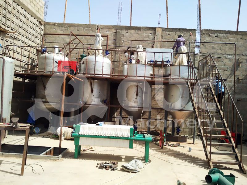 peanut oil refining equipment finished construction