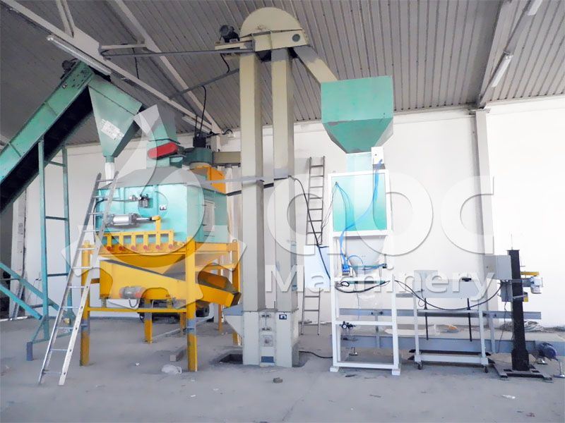 pellets cooling and packaging machinery of the pellet plant