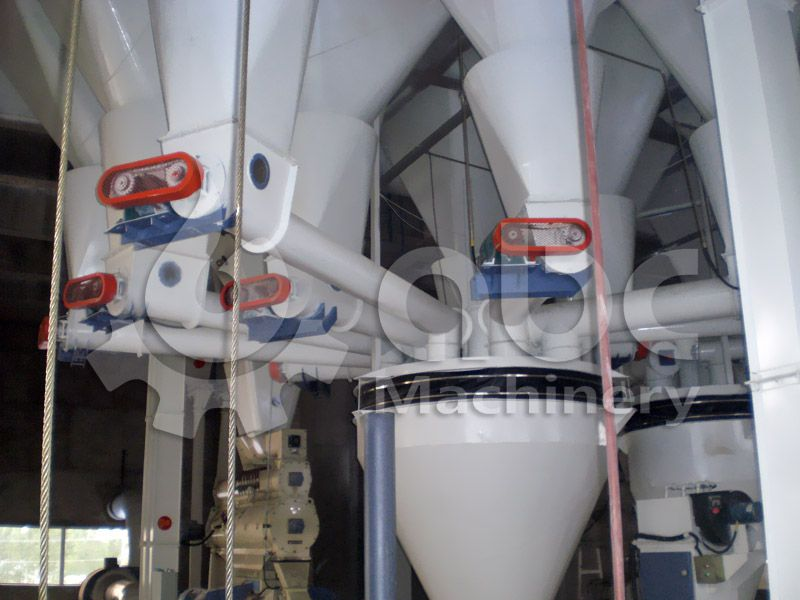 poultry feed batching equipment of the feedstuff processing line