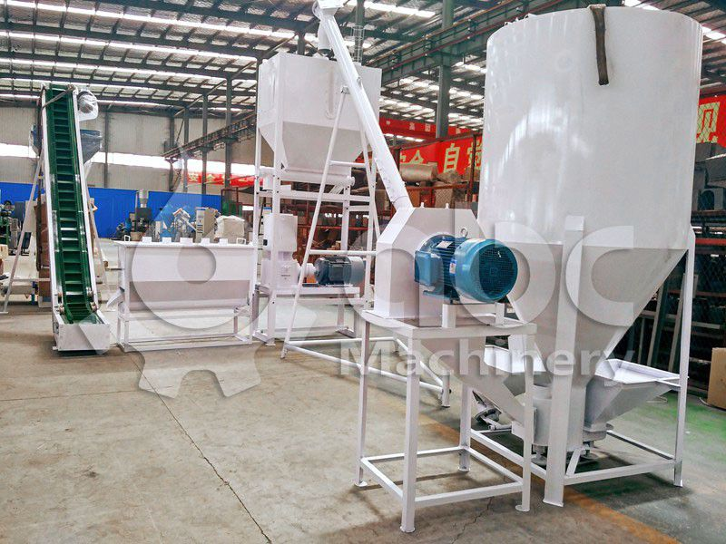poultry feed making line for small to medium scale fodder production