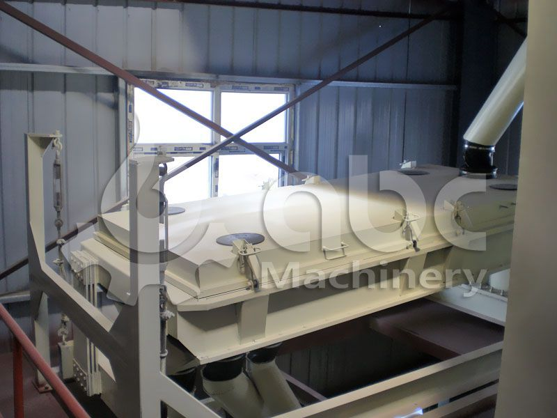 fodder sieving machine of the animal feed milling plant