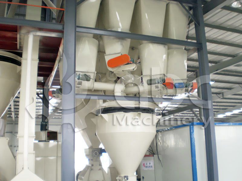 feed batching machine in complete chicken feed producing factory