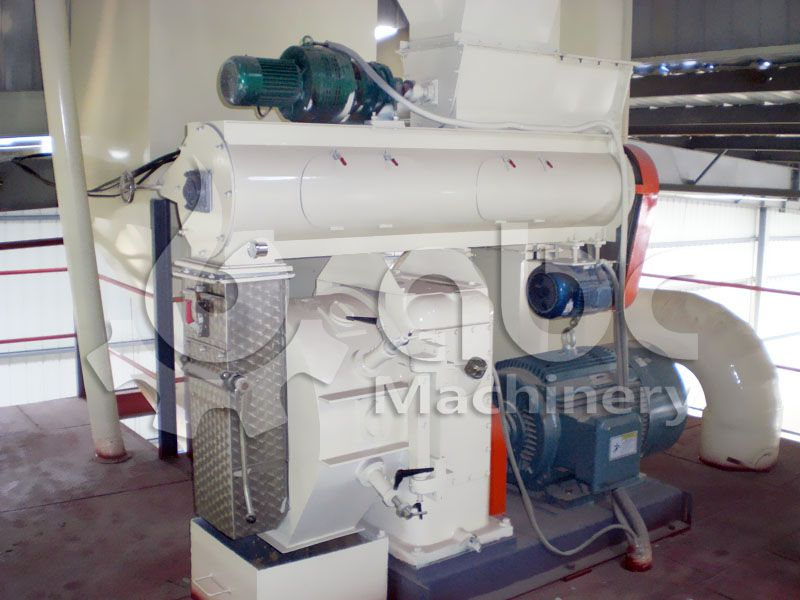 ring die type poultry feed milling machine for large fodder processing line