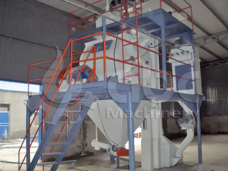 poultry feed mixing equipment of the large fodder processing factory