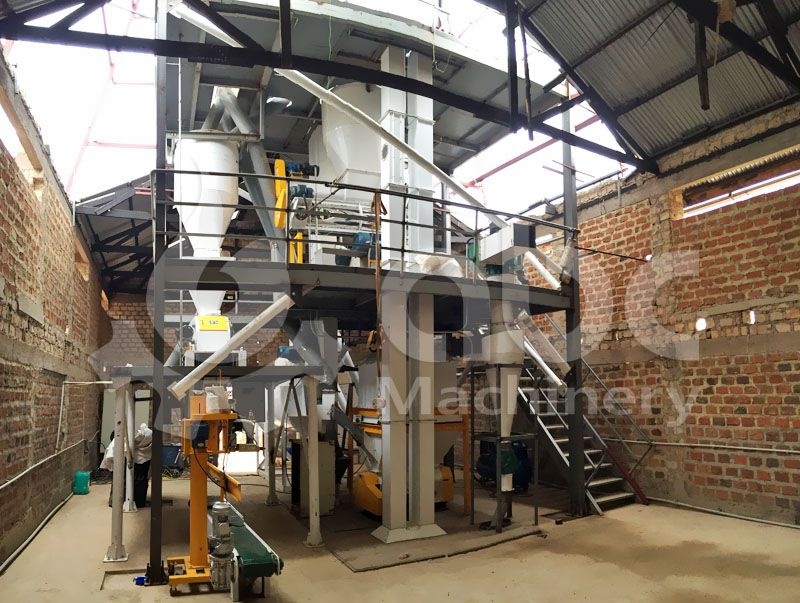 poultry feed pellet plant finished construction