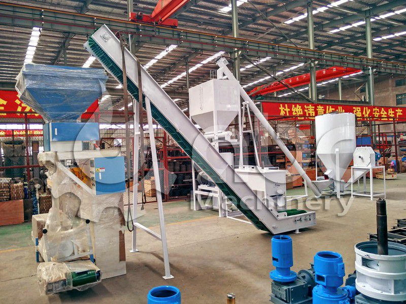 poultry feed producing line for chicken, duct and pig