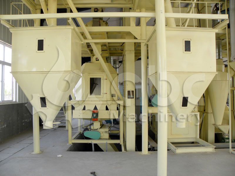 poultry feed cooling machinery for automatic feed production