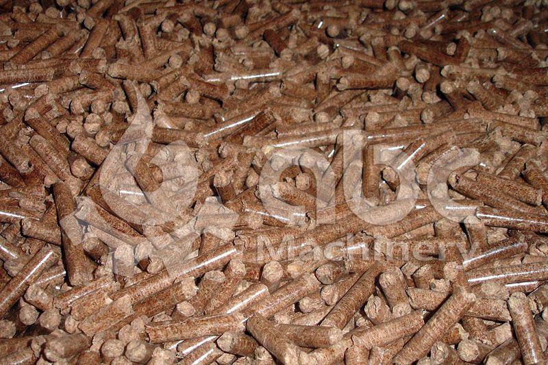 sawdust pellets produced by the production plant