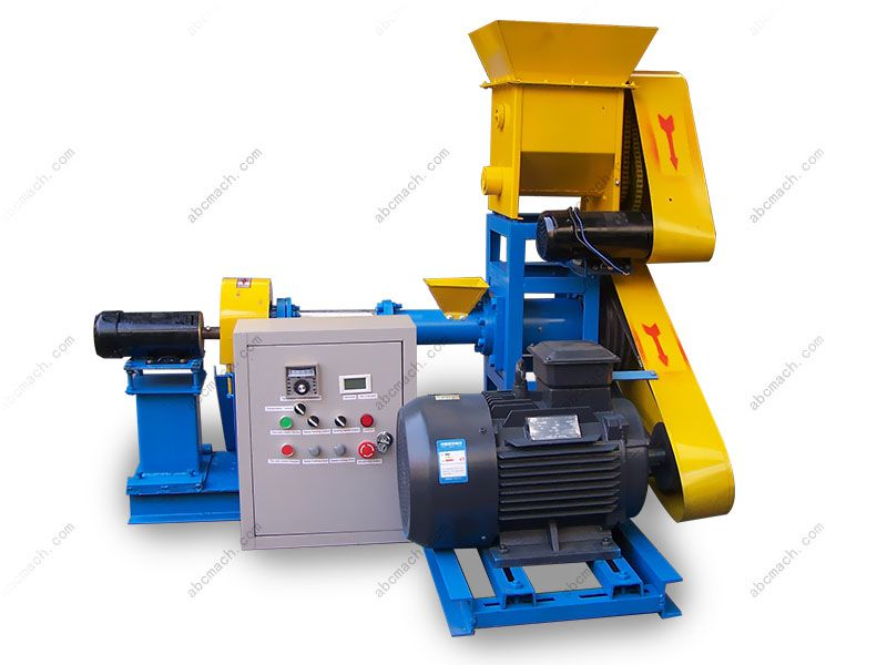 cheap puffing fish feed extruder for small feed mill and factory