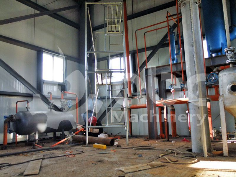 cooking oil refinery section of full scale oil mill
