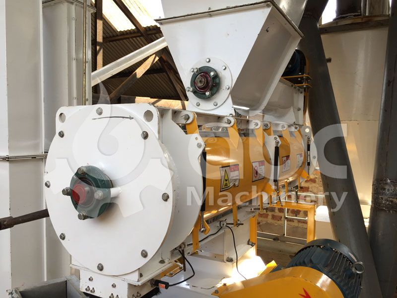 details of the ring die feed pellet mill in the livestock feed manufacturing line