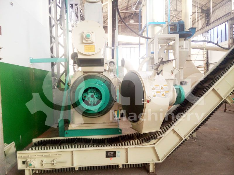 ring die type wood pelletizing machine for industrial scale production line