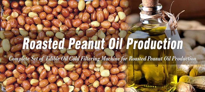 roasted peanut oil production