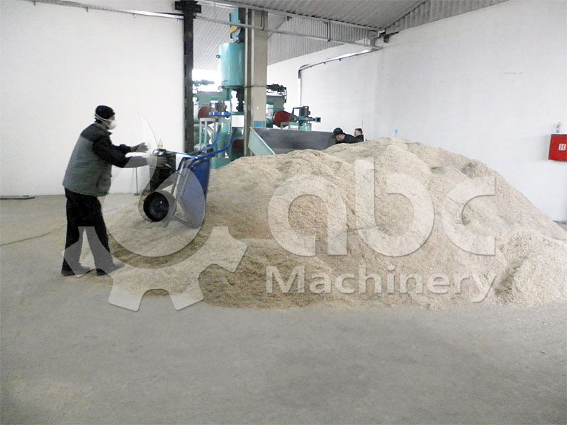 saw dust after crushing, ready for pelletizing process
