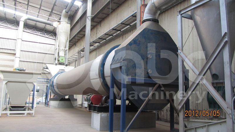 details of the drying equipment included in the pellet plant
