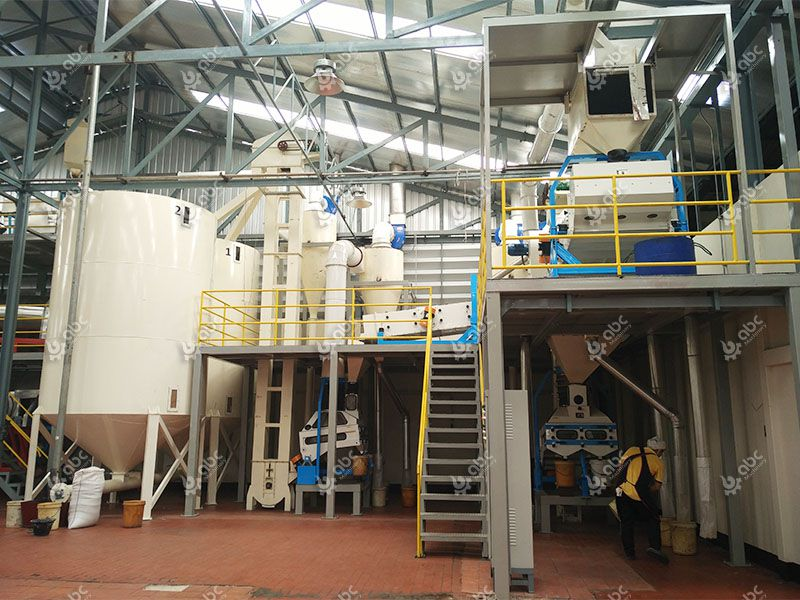 sesame oil processing factory design