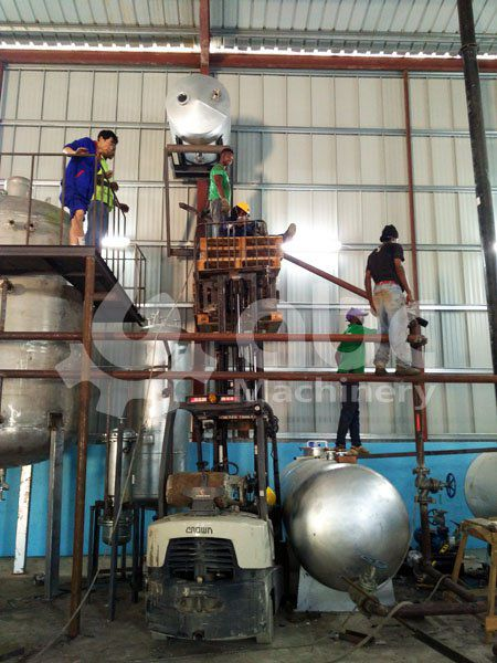 set up a small soya oil refinery for producing cooking oil