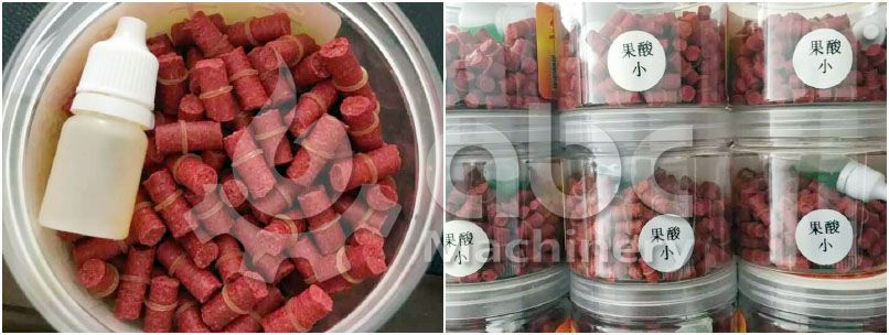 manufactured sinking aquafeed pellets