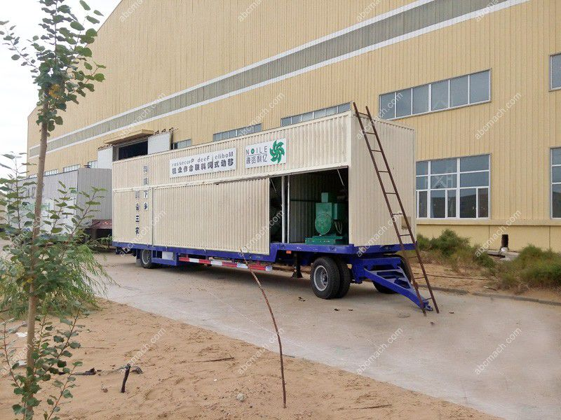 small animal feed plant on container for sale at factory price
