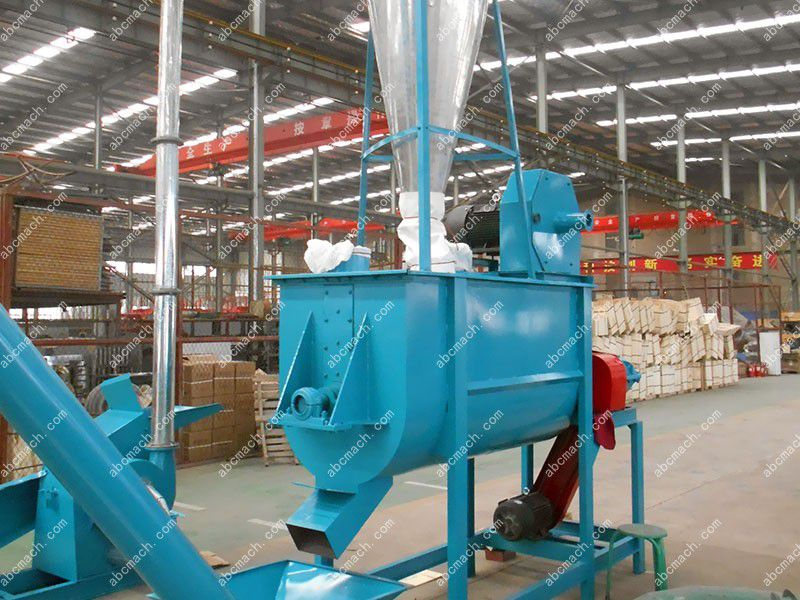 mixing equipment included in the small animal feed production line