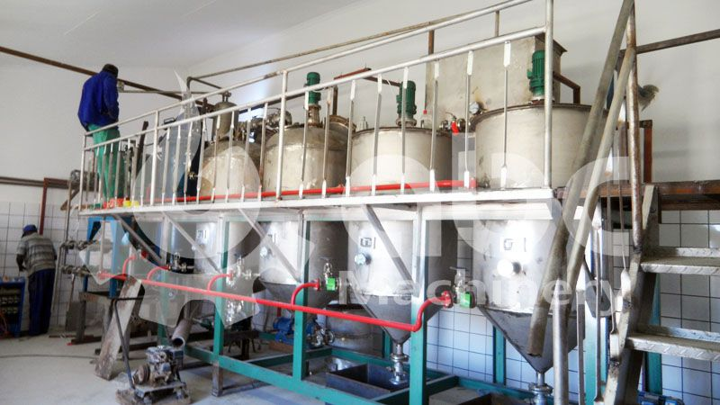 small scale animal oil refining plant for processing crude seal oil