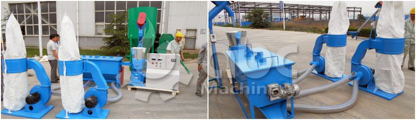 small cattle feed machine unit for making fodder pellets on farm