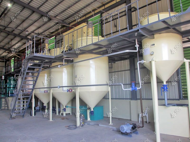 refining section of the small coconut oil mill plant