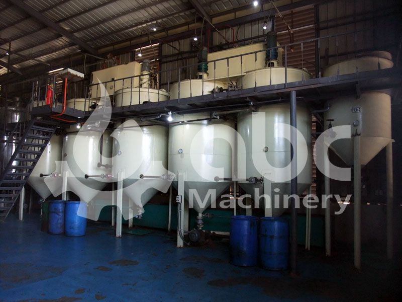 small cooking oil refinery equipment set for processing crude vegetable seed oil