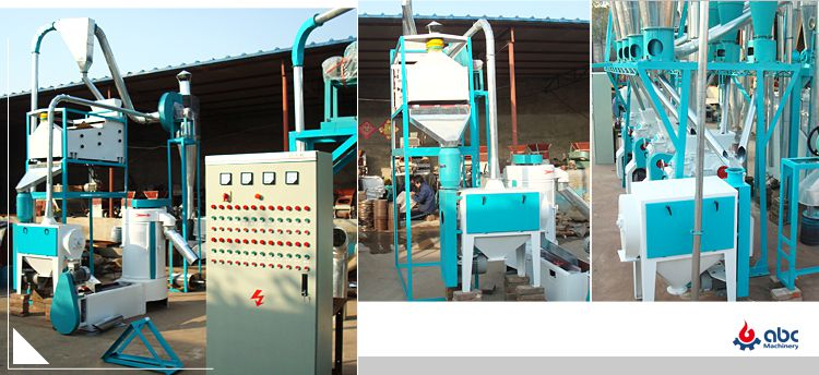 small flour milling machine installation
