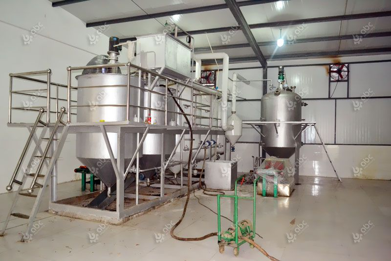 small groundnut oil refinery plant