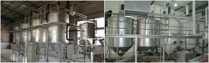 small jatropha seed oil refinery machine