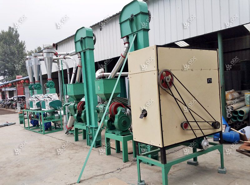 low cost small maize processing plant