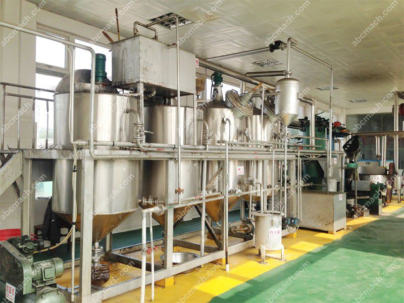 small scale cooking oil refinery plant for sale at low price