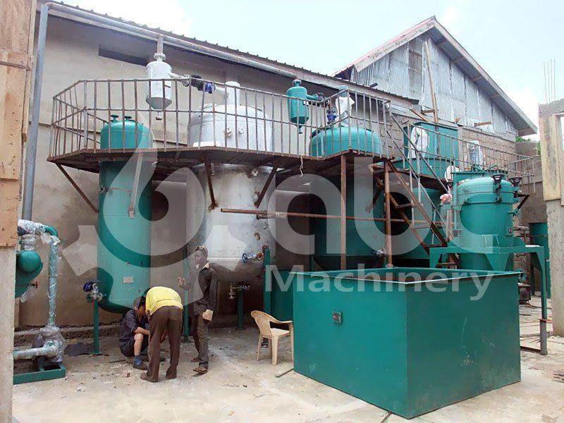 small scale plant of soybean oil refinery