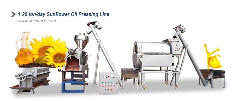 small scale sunflower oil production line