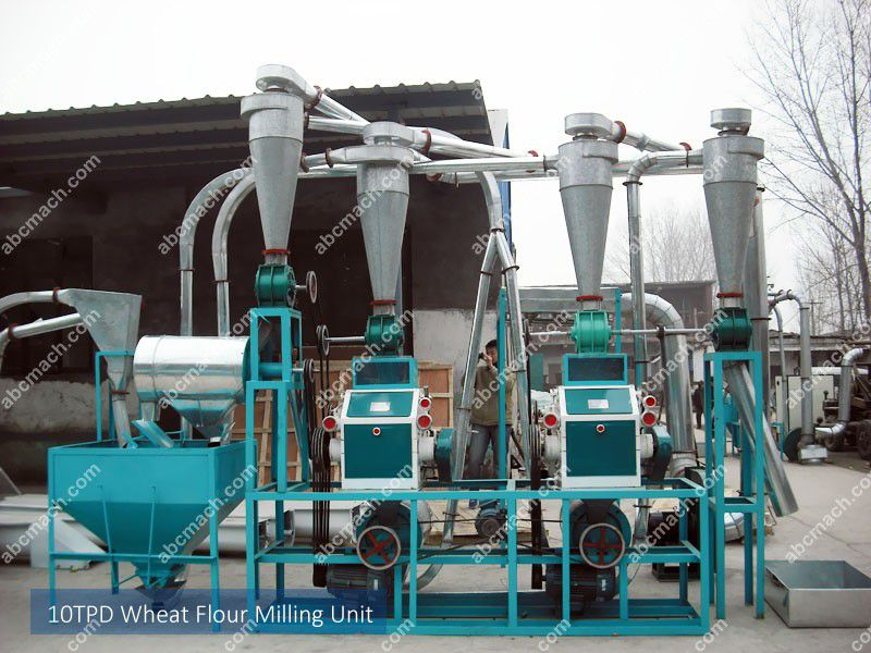 small scale wheat flour milling machinery for sale at low price